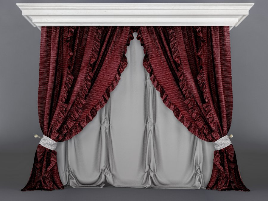 Downloads Library 3D Models Furniture Classic Curtains 467