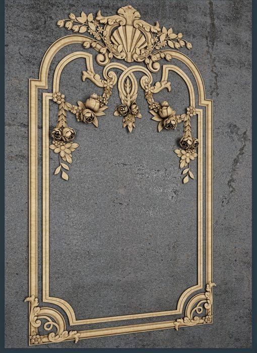 Downloads Library-3D models-decorative-Classic-Wall panels-791