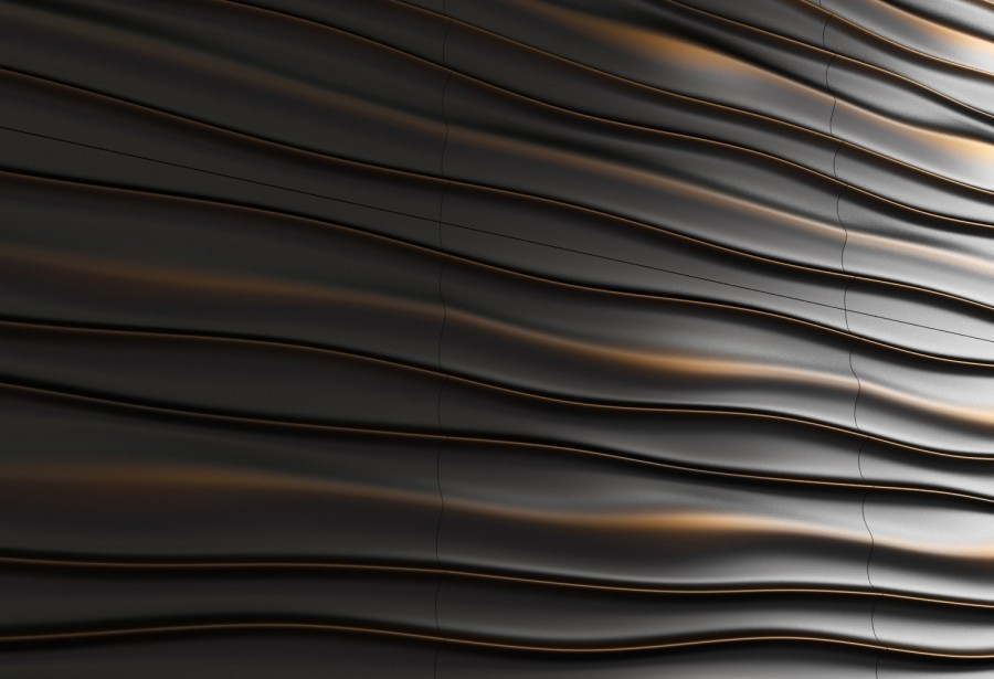 3d wall panels - gold and black - 3d model