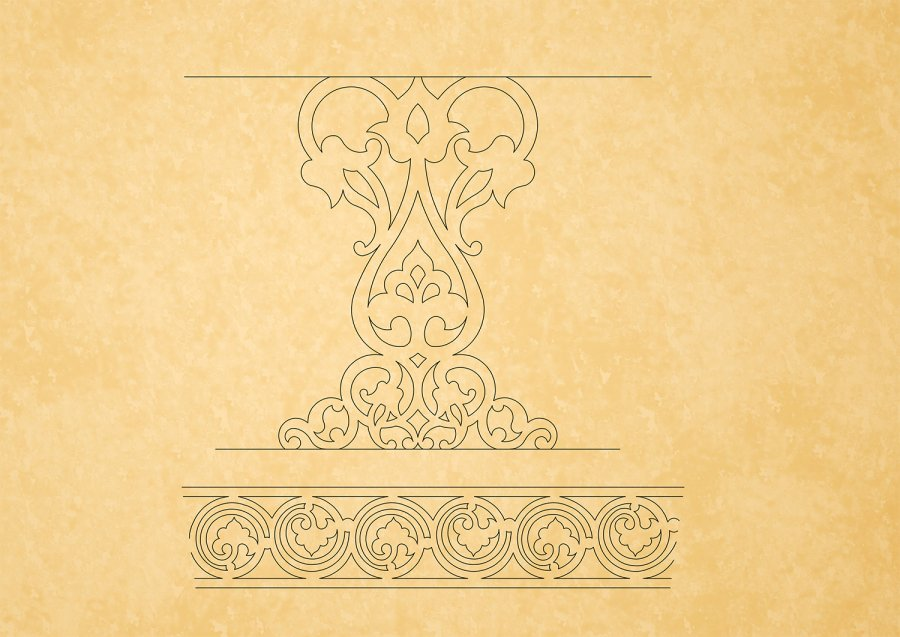 Downloads Library-Cad files-Decorative-Islamic--527