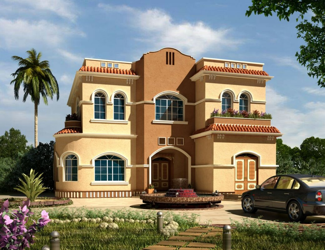 Exterior design others villas 533 member design by manar for Villas exterior design pictures