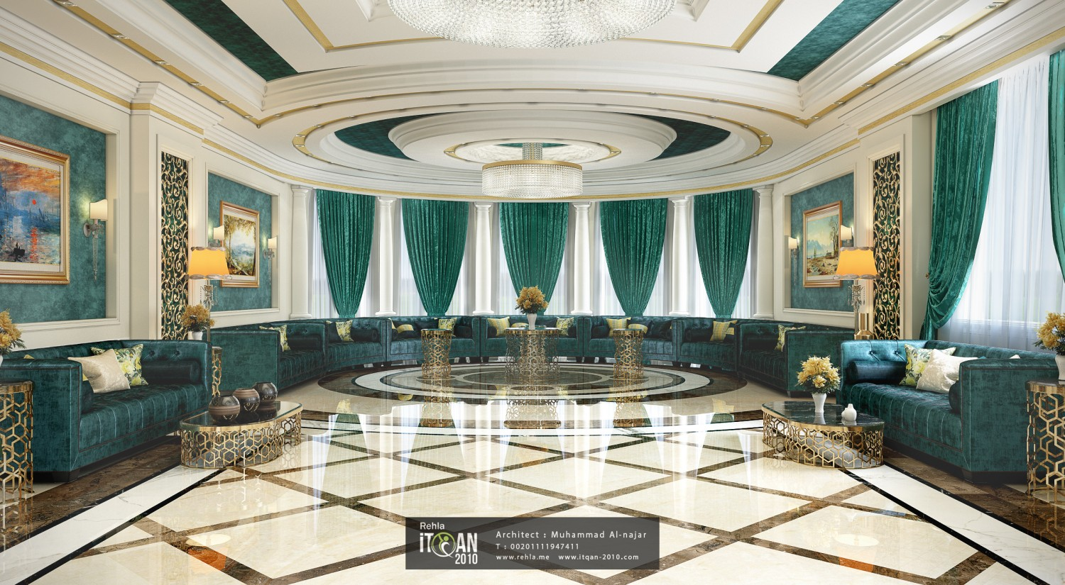 Classic majles muhammad al for Classic house interior design