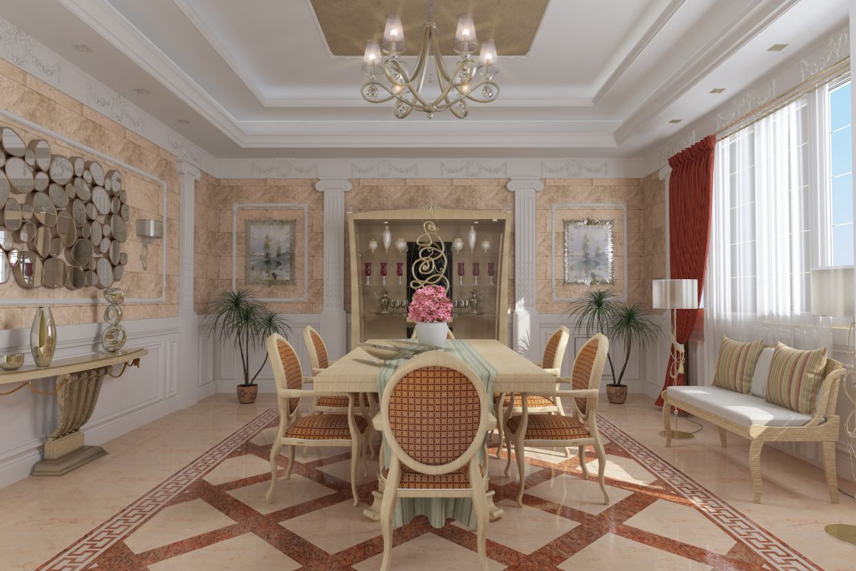 Classic Salon Amp Dining Area Rehla Me Walaadesigns