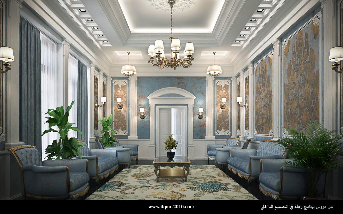 Classic interior salon for Classic house design interior