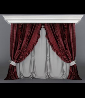Downloads Library-3D models-Furniture-Classic-Curtains-467