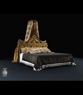 Downloads Library-3D models-Furniture-Classic-Beds-779