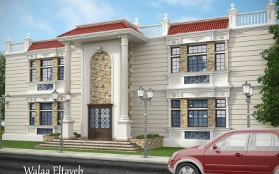 Idea book | user designs-Exterior design-Exterior design-Classic-Villas-764-أعمال الأعضاء-by: walaadesigns
